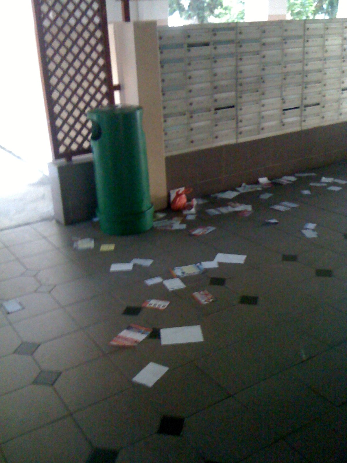 Flyers All Over The Floor A Dirty Hdb Void Deck Around