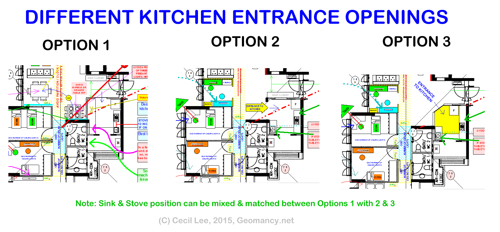 2014 2015 Hdb 5 Bedroom Layout Kitchen Entrance Feng Shui Tips Guidelines Fengshui