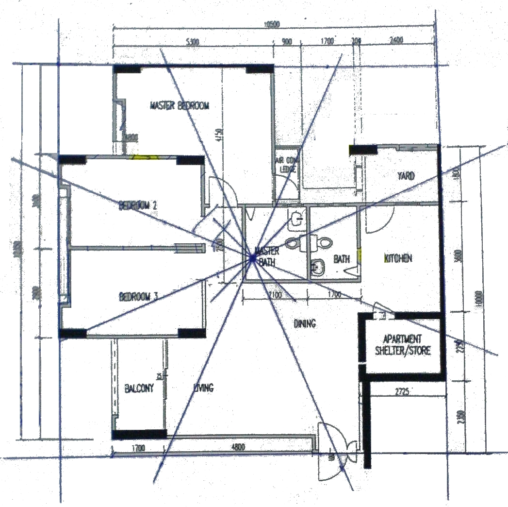 how to determine facing of hdb flat feng shui tips guidelines i ve attached a copy of my floorplan and had marked out the centre point however i don t know how to determine the location to take the facing