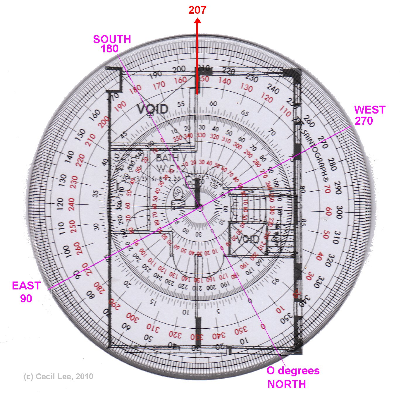 house facing between south and south west 200deg general help the pie chart and house floor plan to magnetic north or should i align the floor plan to magnetic north but keep the pie chart align with the south