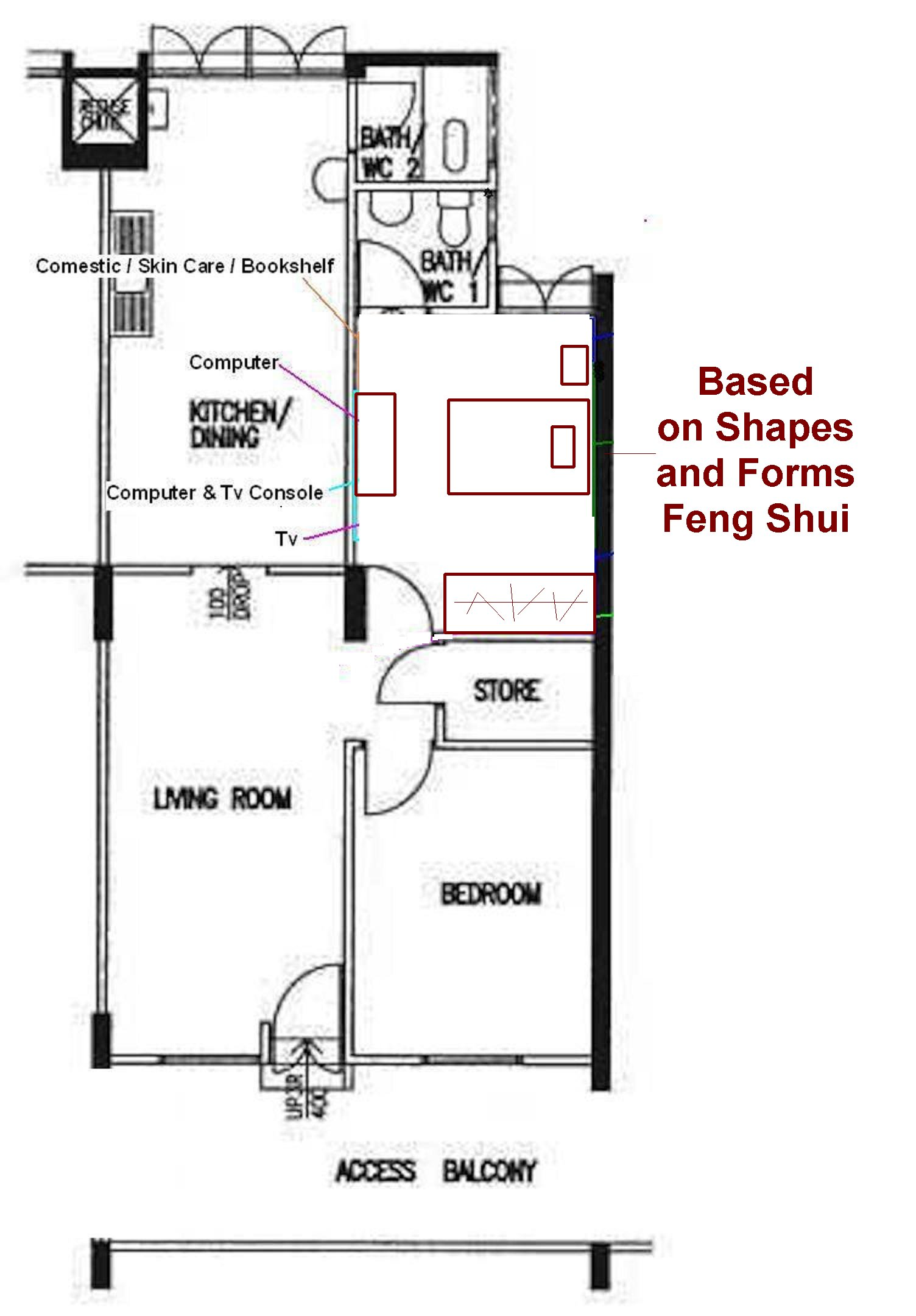 Bedroom feng shui general help fengshui geomancy net for Bedroom layout design ideas