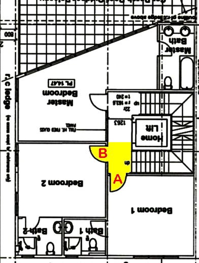 Bedroom door close proximity of stairs 2nd storey.png