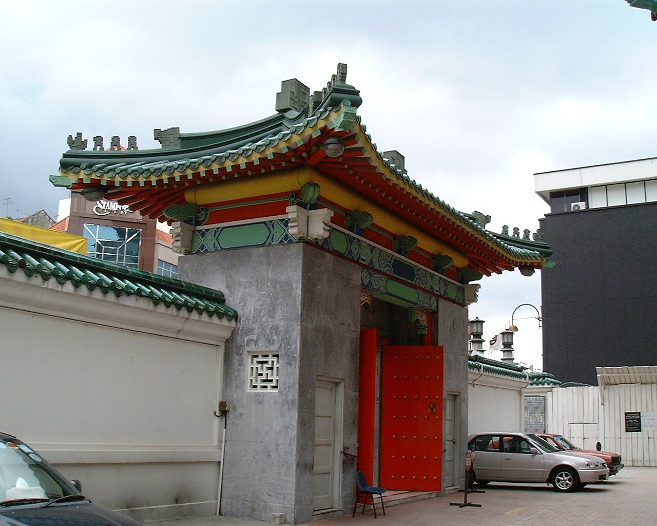 Back view of the main gate